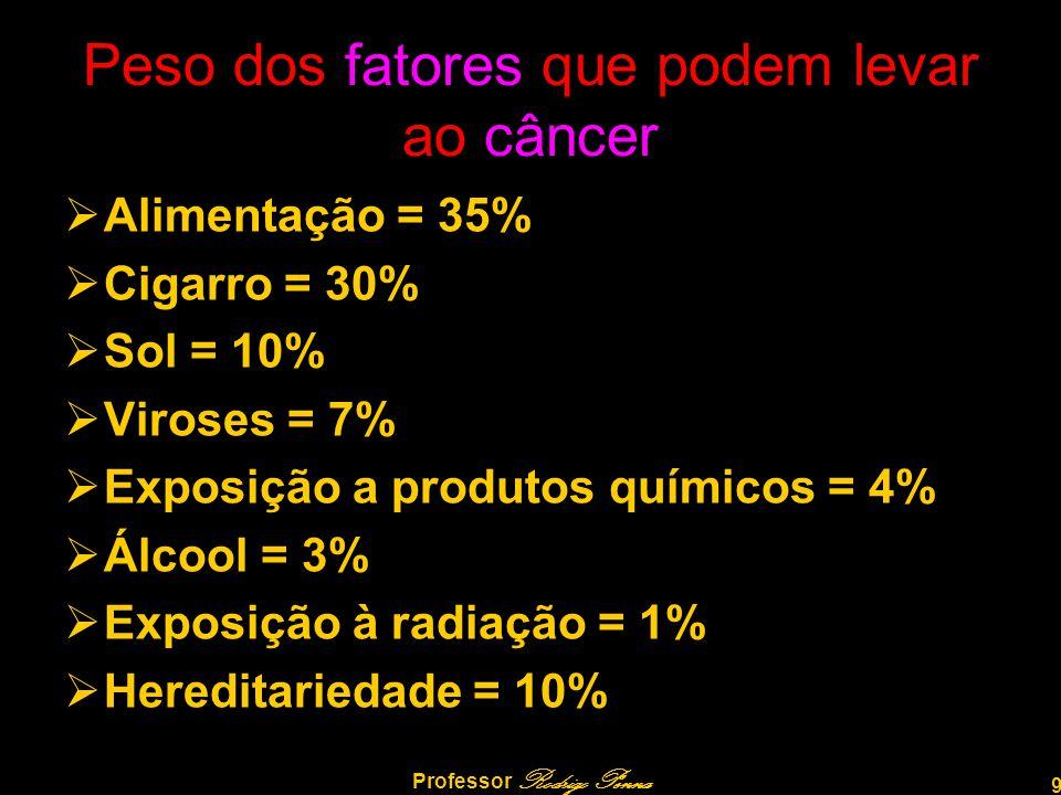 Peso dos fatores que podem levar ao câncer