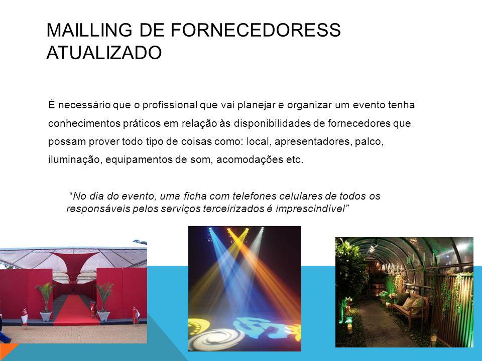 MAILLING DE FORNECEDORESS ATUALIZADO