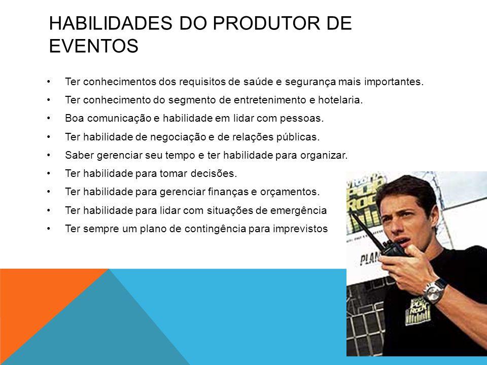 Habilidades do produtor de eventos