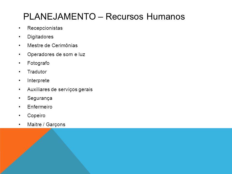 Planejamento – Recursos Humanos