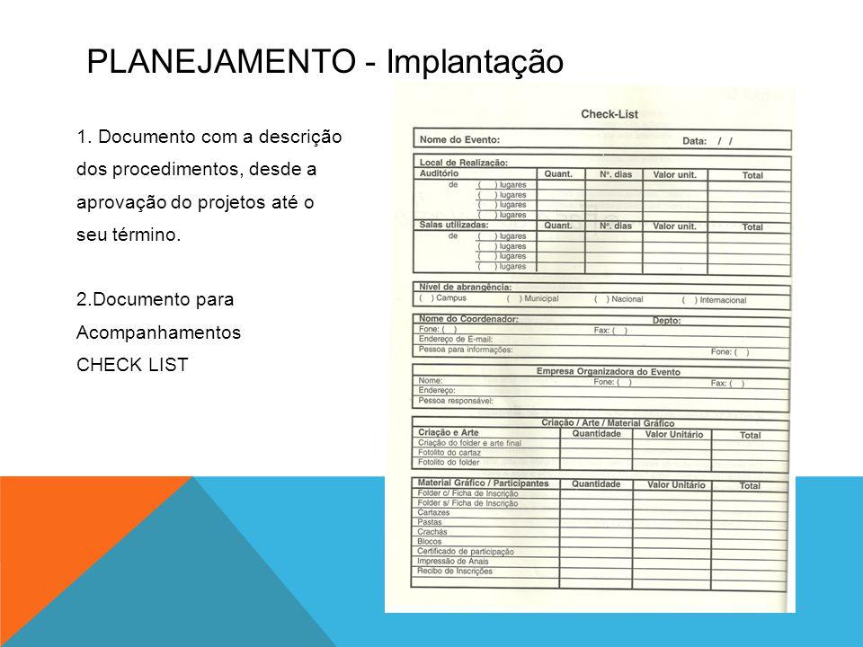 PLANEJAMENTO - Implantação