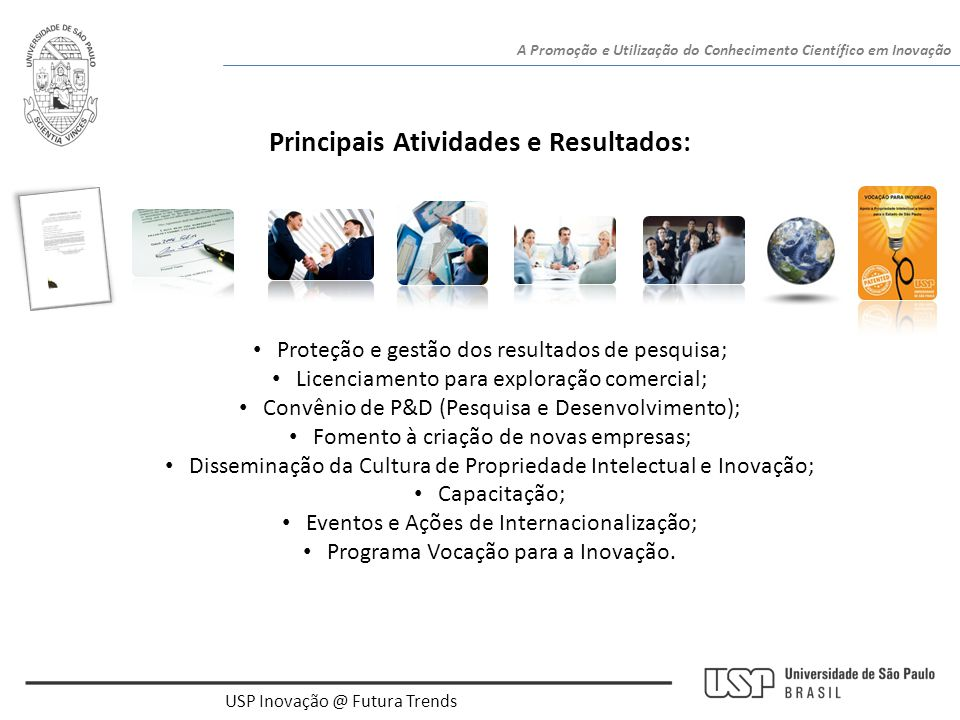 Principais Atividades e Resultados: