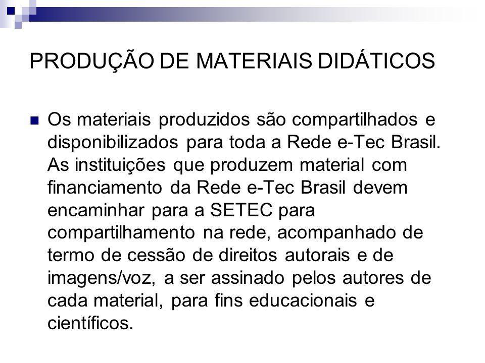 PRODUÇÃO DE MATERIAIS DIDÁTICOS
