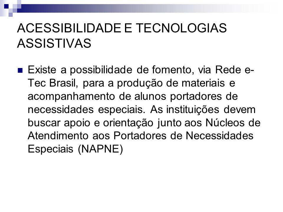 ACESSIBILIDADE E TECNOLOGIAS ASSISTIVAS