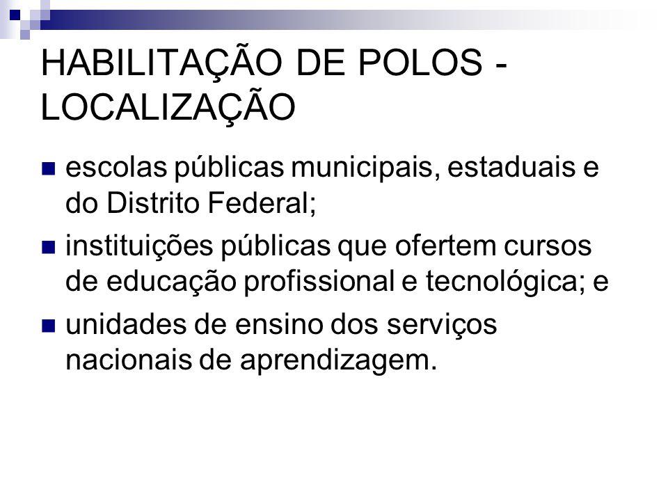 HABILITAÇÃO DE POLOS - LOCALIZAÇÃO