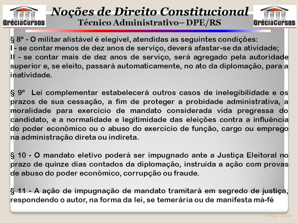§ 8º - O militar alistável é elegível, atendidas as seguintes condições: