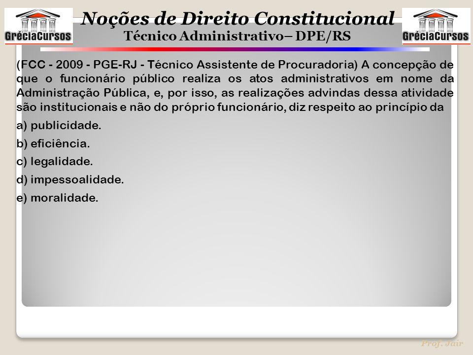 (FCC - 2009 - PGE-RJ - Técnico Assistente de Procuradoria) A concepção de que o funcionário público realiza os atos administrativos em nome da Administração Pública, e, por isso, as realizações advindas dessa atividade são institucionais e não do próprio funcionário, diz respeito ao princípio da