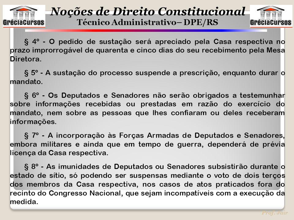§ 4º - O pedido de sustação será apreciado pela Casa respectiva no prazo improrrogável de quarenta e cinco dias do seu recebimento pela Mesa Diretora.