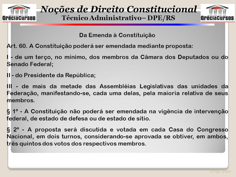 Da Emenda à Constituição
