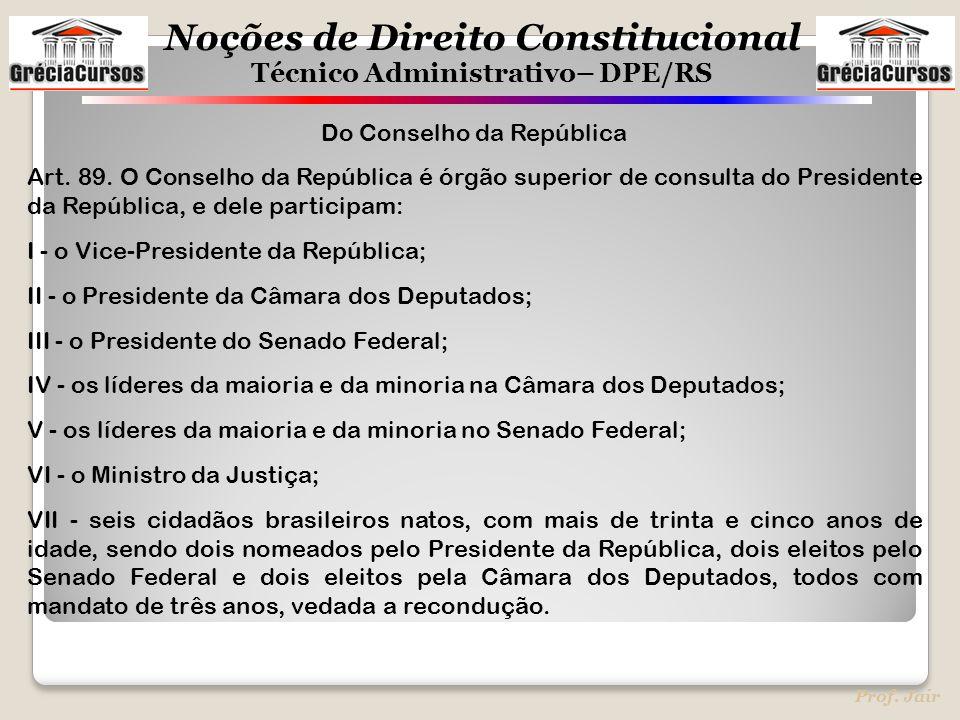 Do Conselho da República
