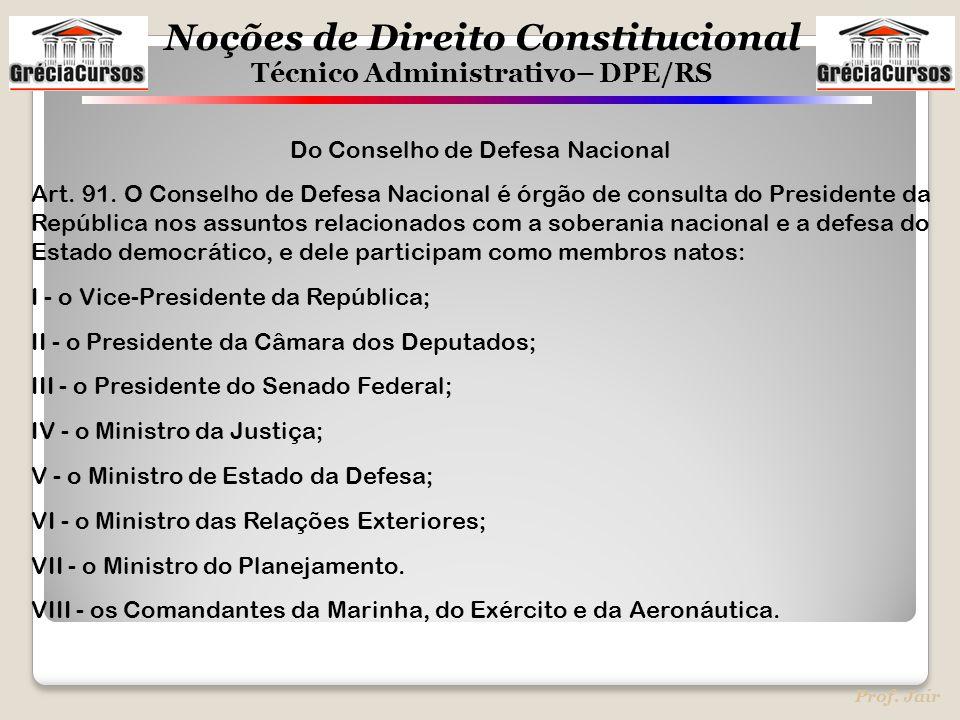 Do Conselho de Defesa Nacional