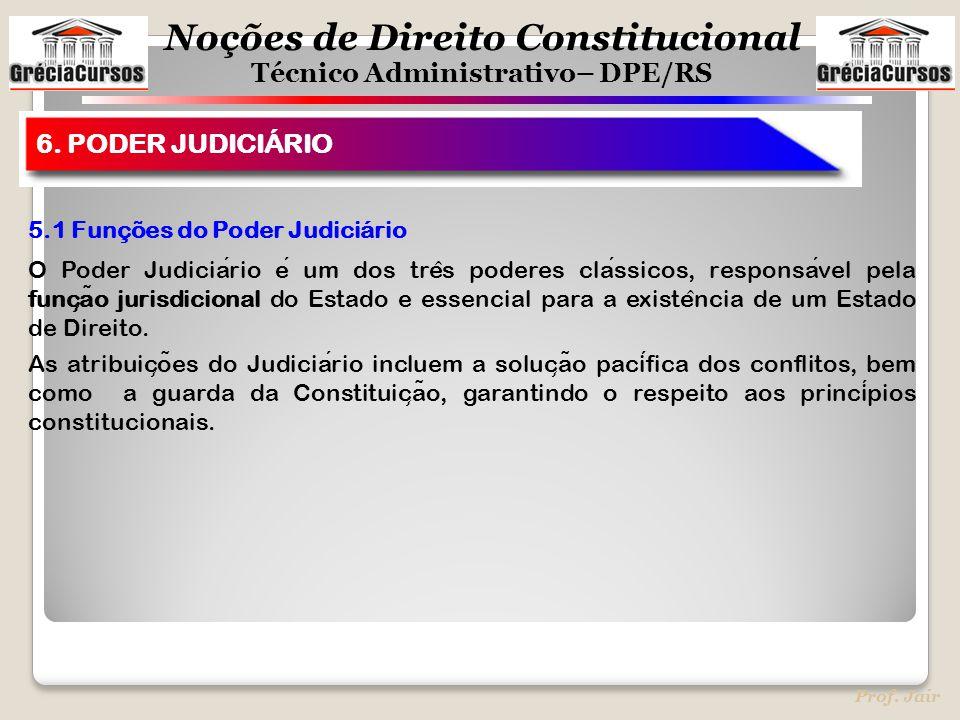 6. PODER JUDICIÁRIO 5.1 Funções do Poder Judiciário