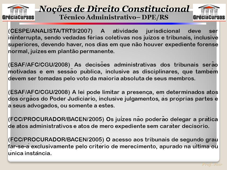 (CESPE/ANALISTA/TRT9/2007) A atividade jurisdicional deve ser ininterrupta, sendo vedadas férias coletivas nos juízos e tribunais, inclusive superiores, devendo haver, nos dias em que não houver expediente forense normal, juízes em plantão permanente.