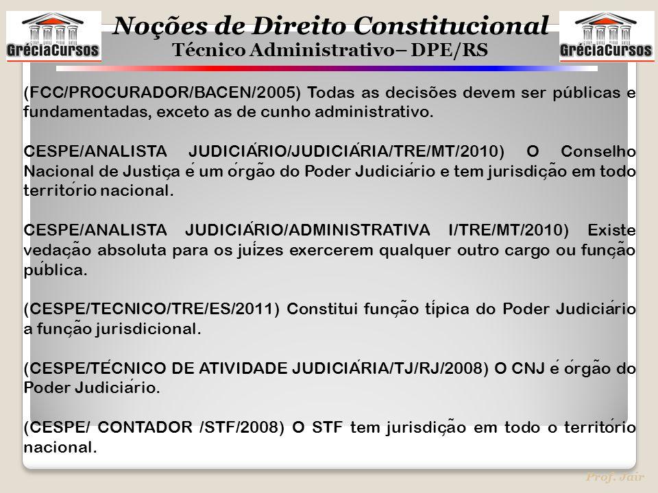 (FCC/PROCURADOR/BACEN/2005) Todas as decisões devem ser públicas e fundamentadas, exceto as de cunho administrativo.