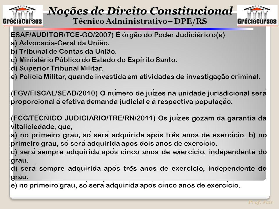 ESAF/AUDITOR/TCE-GO/2007) É órgão do Poder Judiciário o(a)