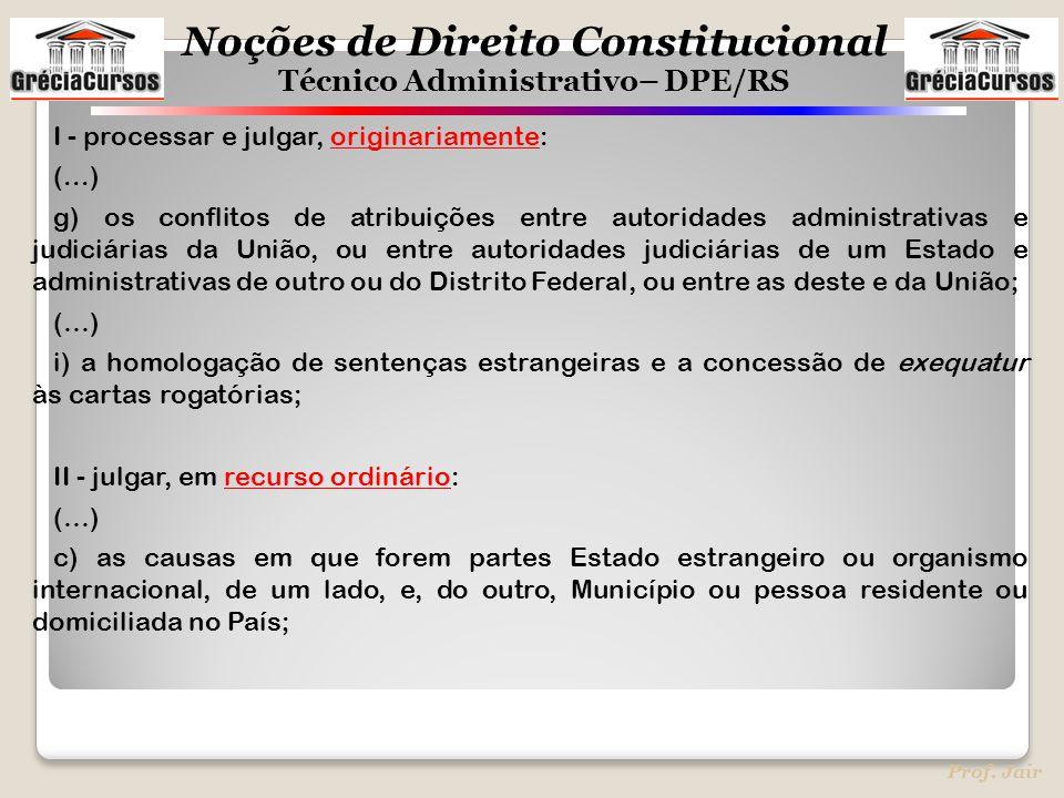 I - processar e julgar, originariamente: