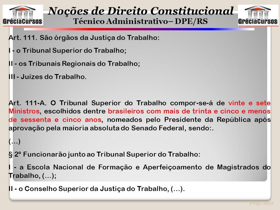 Art. 111. São órgãos da Justiça do Trabalho: