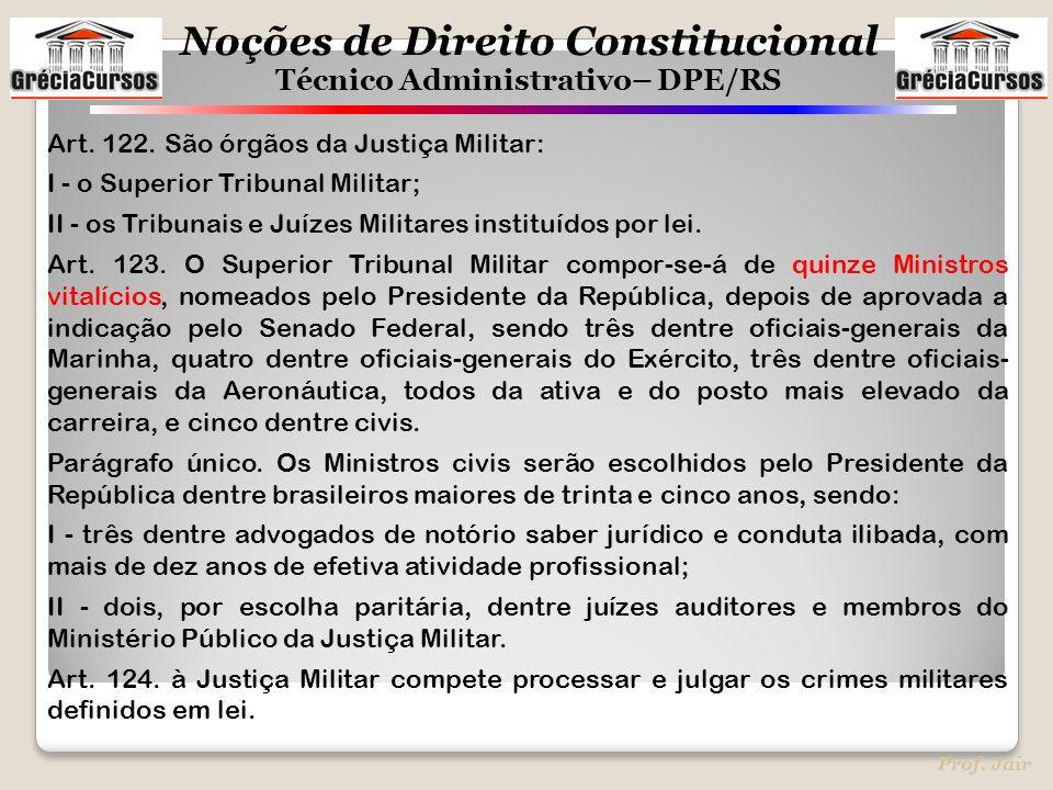 Art. 122. São órgãos da Justiça Militar: