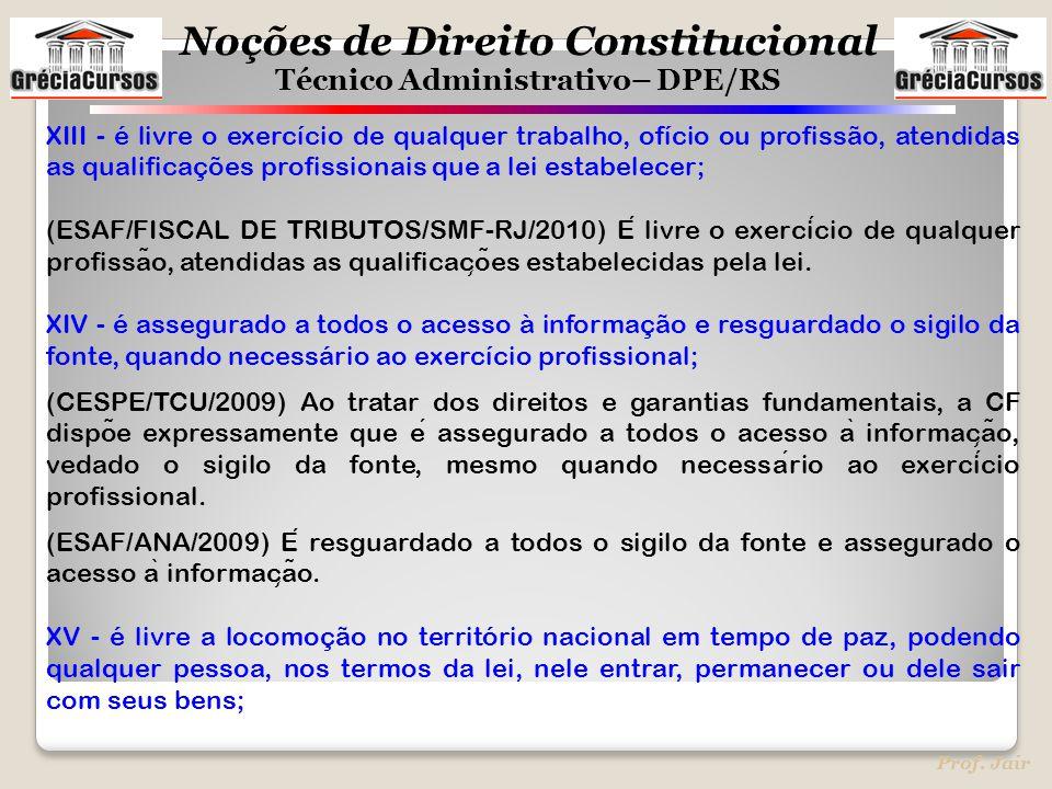 XIII - é livre o exercício de qualquer trabalho, ofício ou profissão, atendidas as qualificações profissionais que a lei estabelecer;