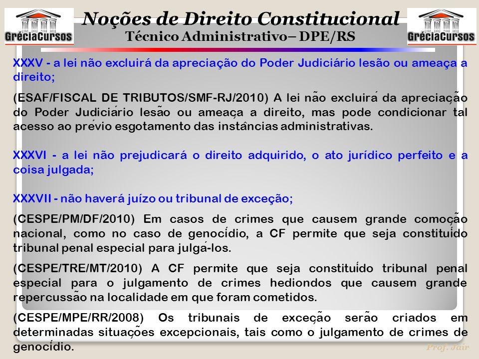 XXXV - a lei não excluirá da apreciação do Poder Judiciário lesão ou ameaça a direito;