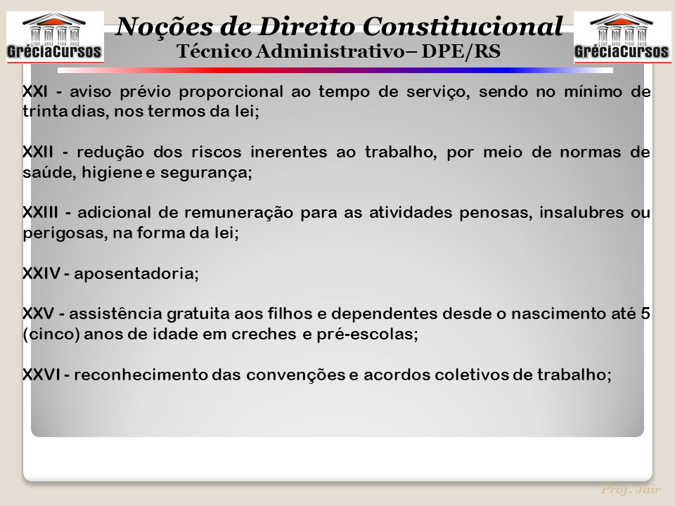 XXI - aviso prévio proporcional ao tempo de serviço, sendo no mínimo de trinta dias, nos termos da lei;