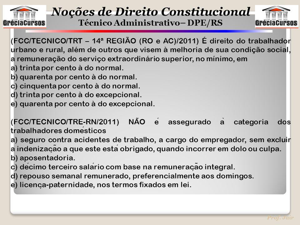 (FCC/TECNICO/TRT – 14ª REGIÃO (RO e AC)/2011) É direito do trabalhador urbano e rural, além de outros que visem à melhoria de sua condição social, a remuneração do serviço extraordinário superior, no mínimo, em