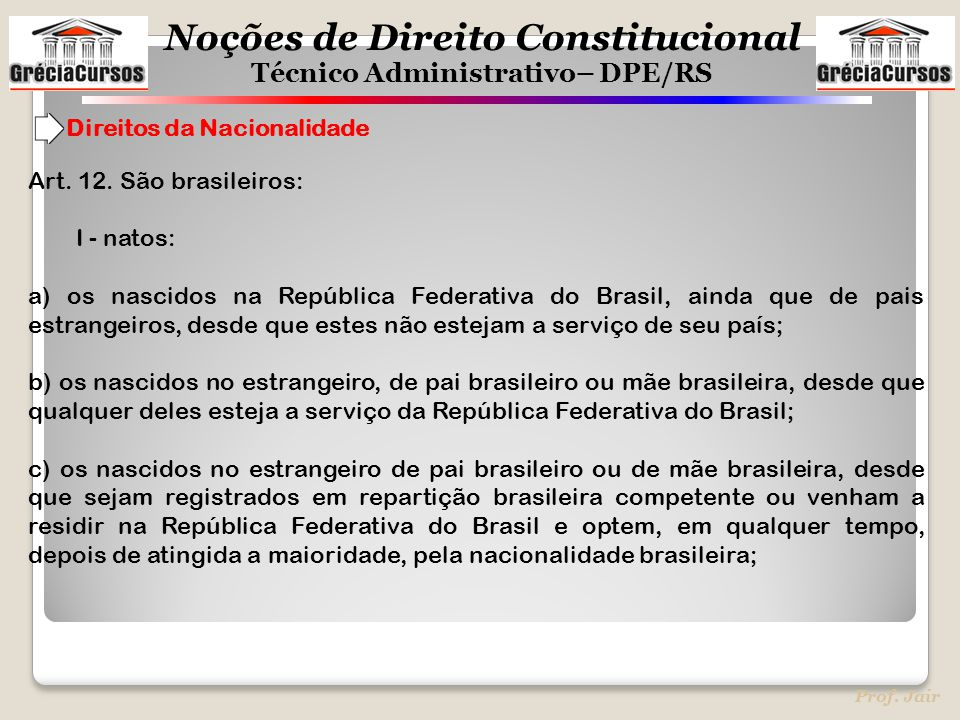 Direitos da Nacionalidade