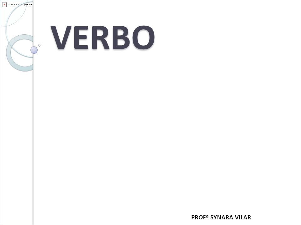 VERBO PROFª SYNARA VILAR