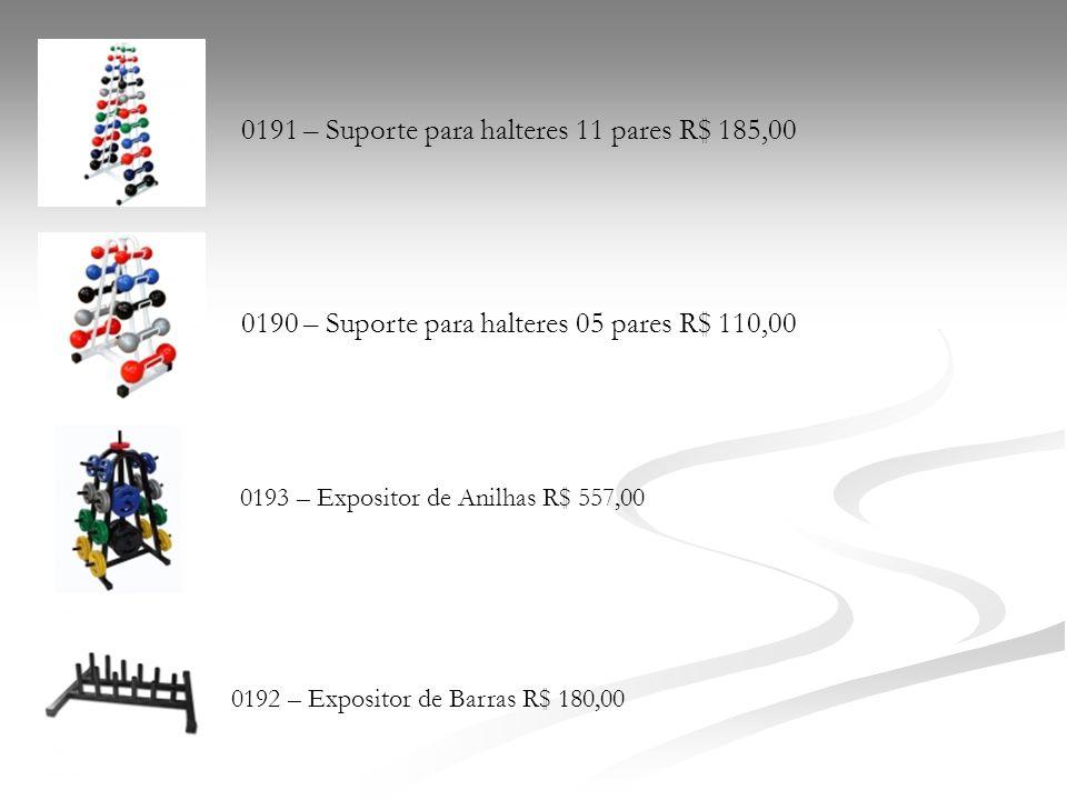 0191 – Suporte para halteres 11 pares R$ 185,00