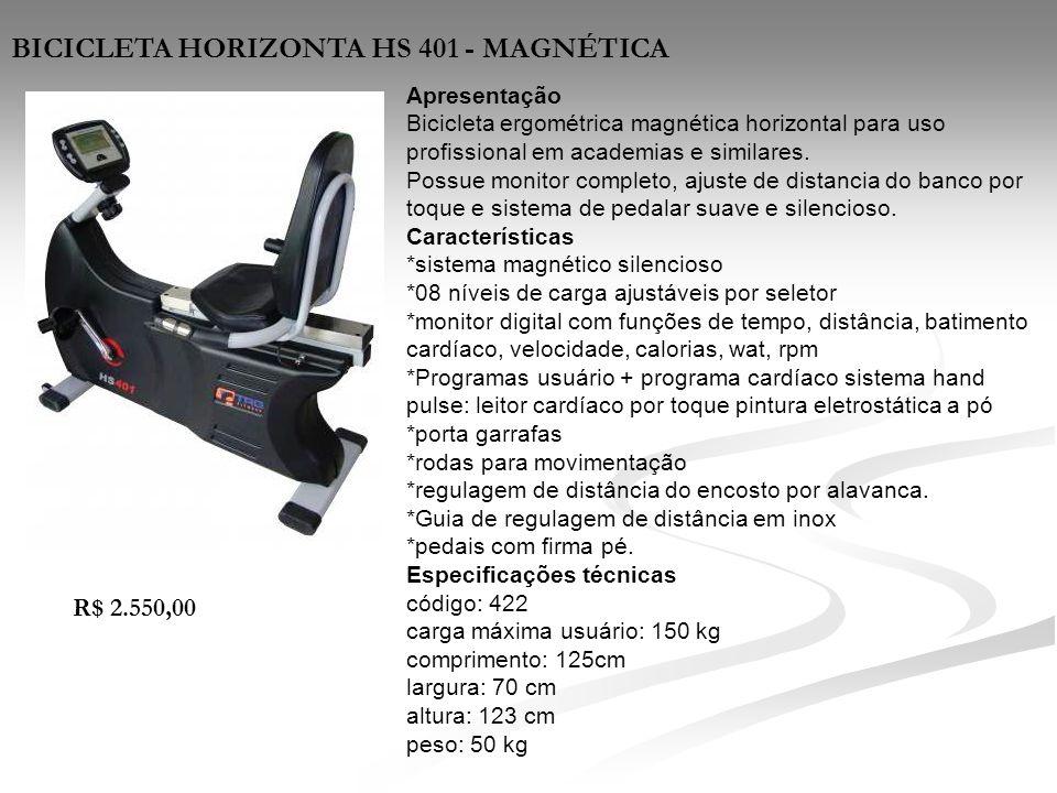 BICICLETA HORIZONTA HS 401 - MAGNÉTICA