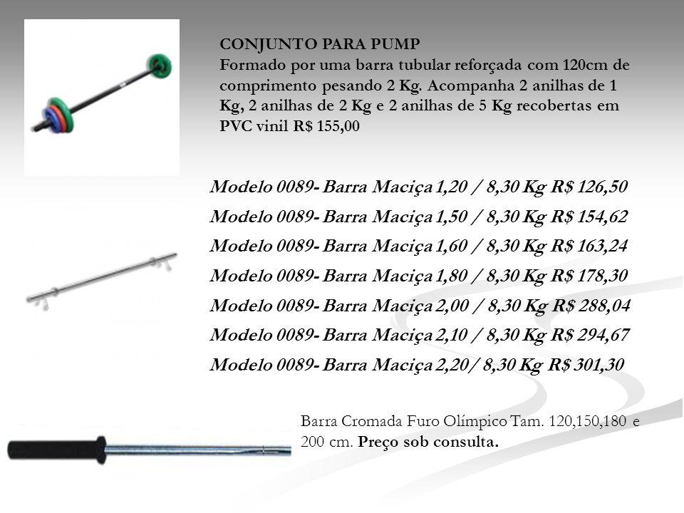 Modelo 0089- Barra Maciça 1,20 / 8,30 Kg R$ 126,50