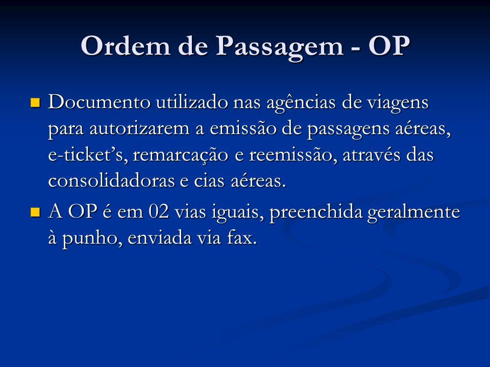 Ordem de Passagem - OP
