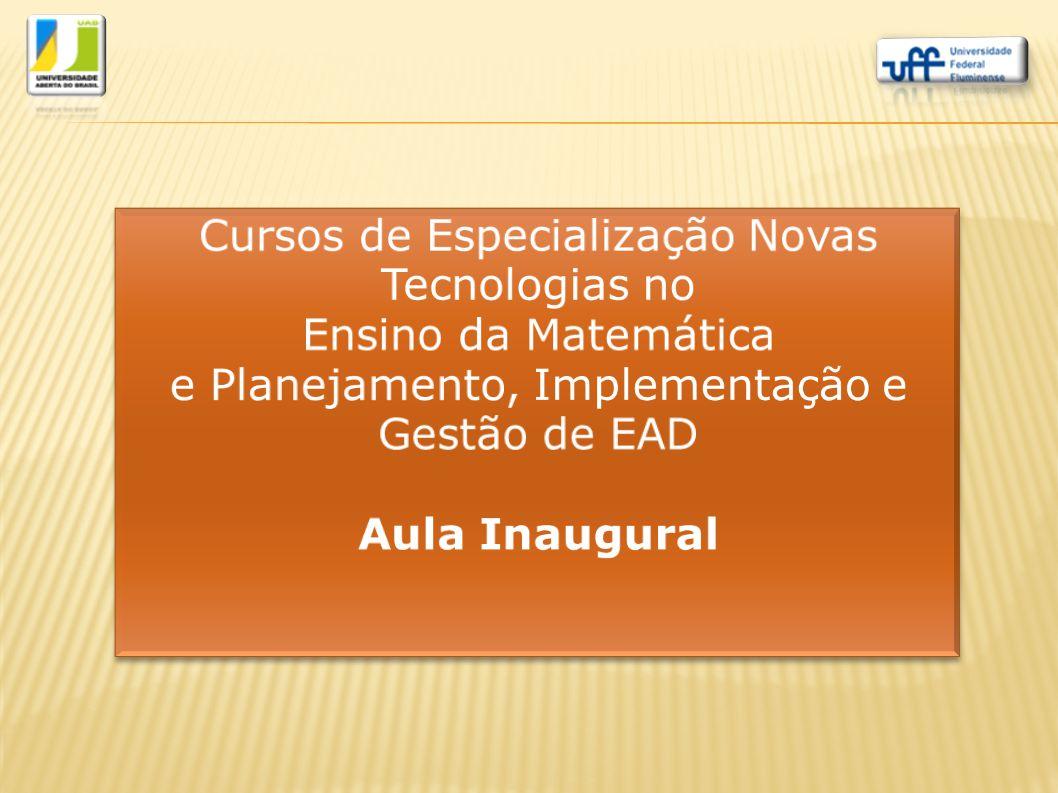 Cursos de Especialização Novas Tecnologias no Ensino da Matemática