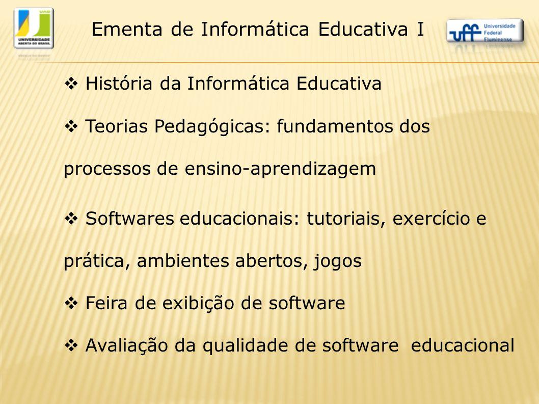 Ementa de Informática Educativa I