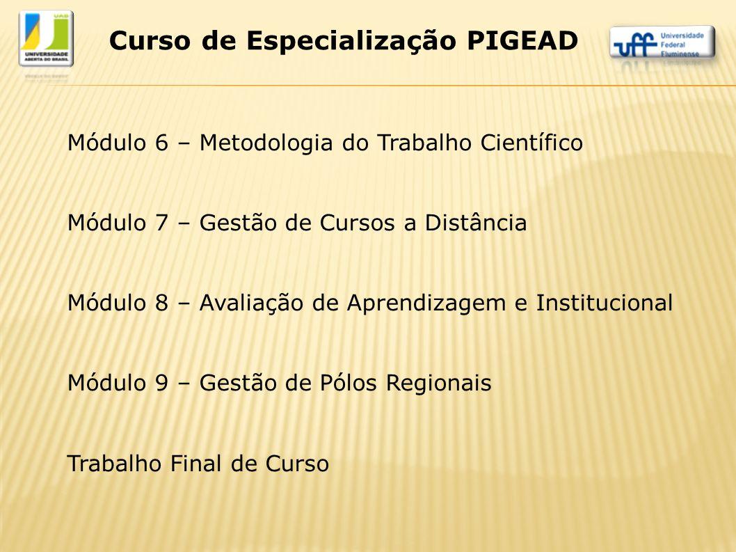 Curso de Especialização PIGEAD