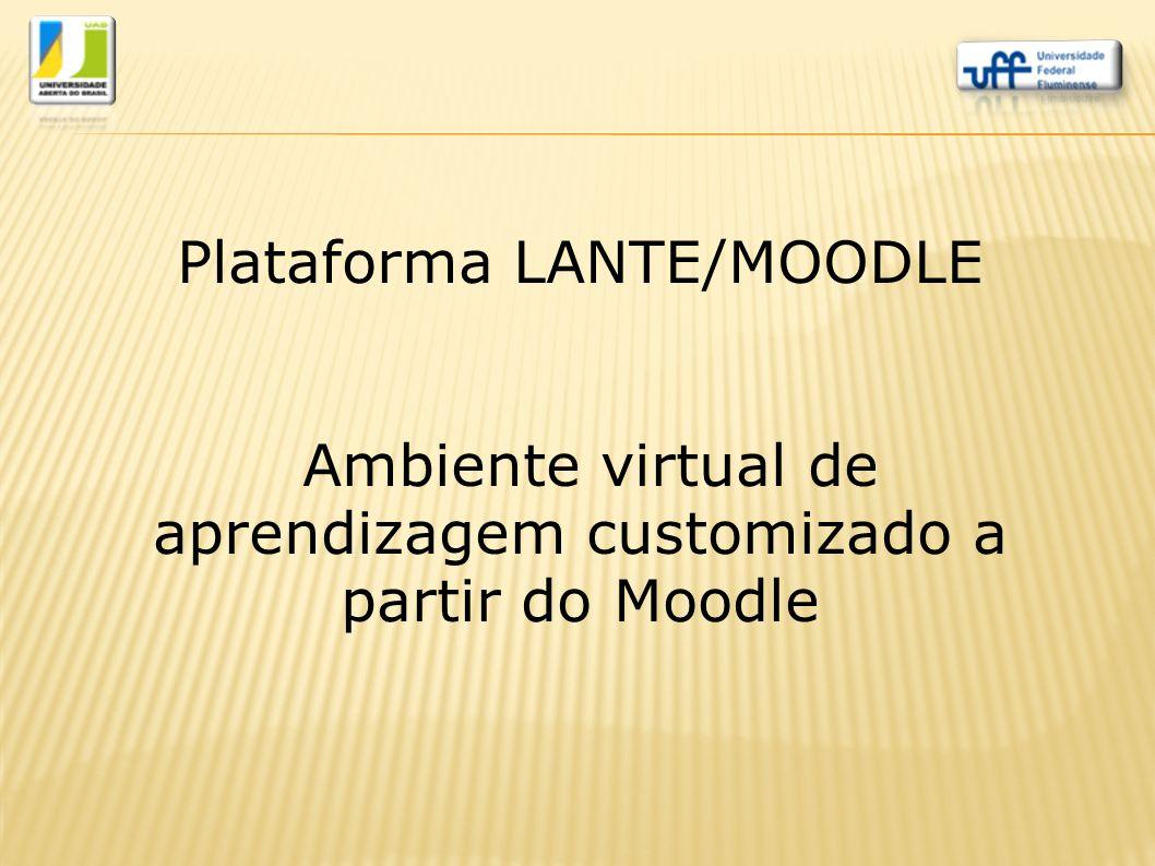 Plataforma LANTE/MOODLE