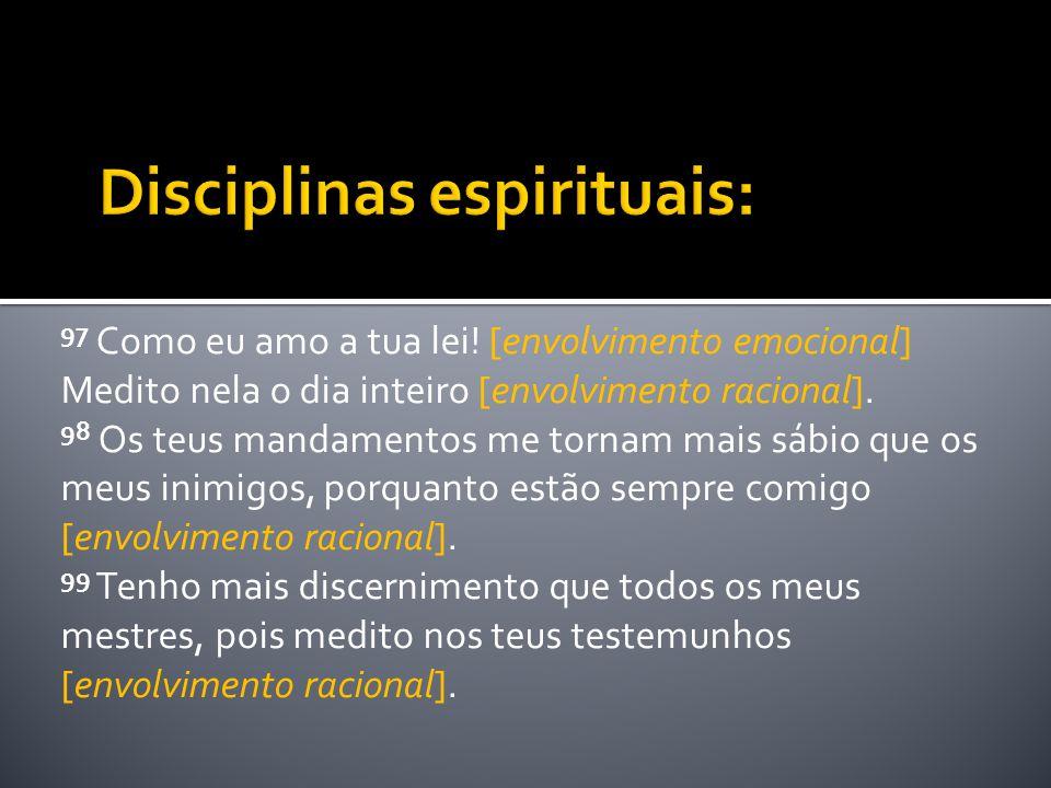 Disciplinas espirituais: