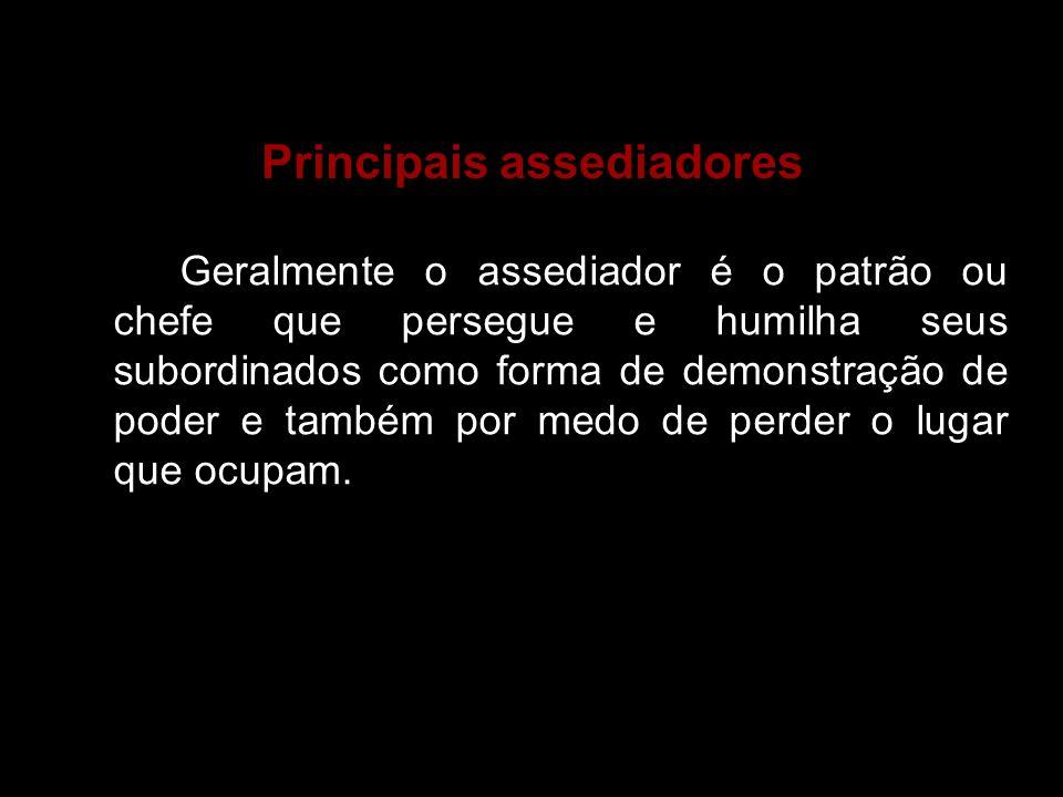 Principais assediadores
