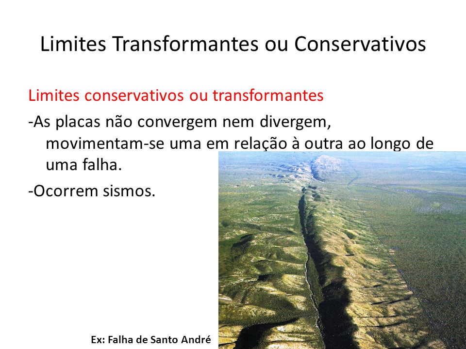 Limites Transformantes ou Conservativos