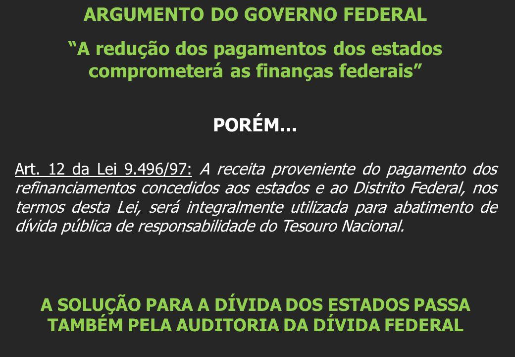 ARGUMENTO DO GOVERNO FEDERAL