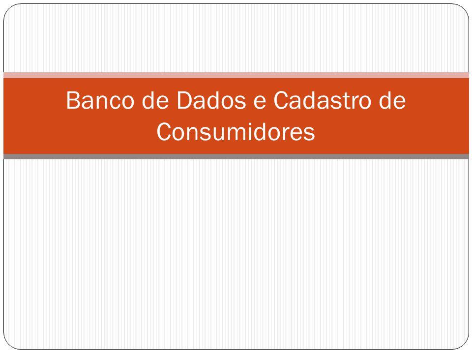 Banco de Dados e Cadastro de Consumidores