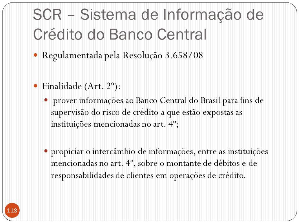 SCR – Sistema de Informação de Crédito do Banco Central