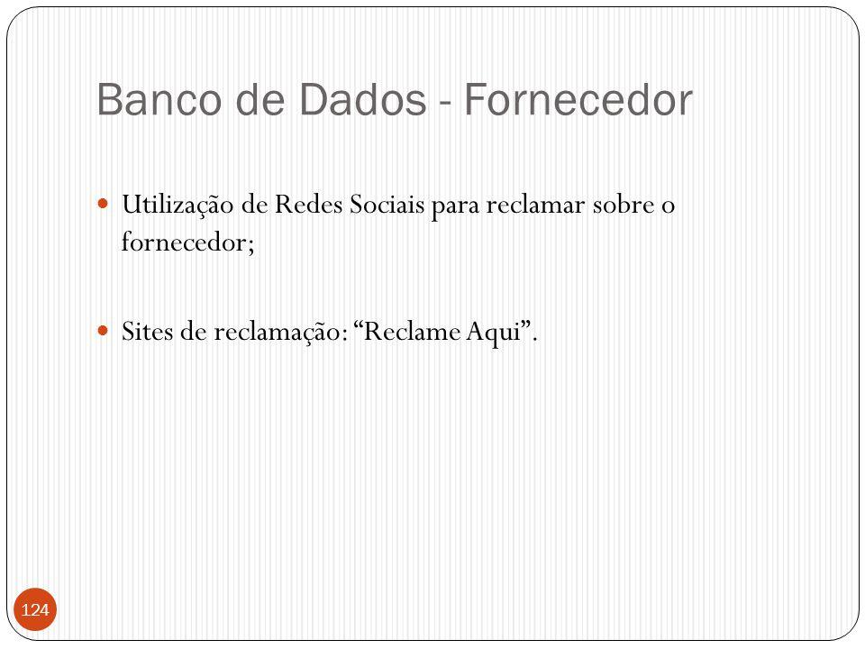 Banco de Dados - Fornecedor
