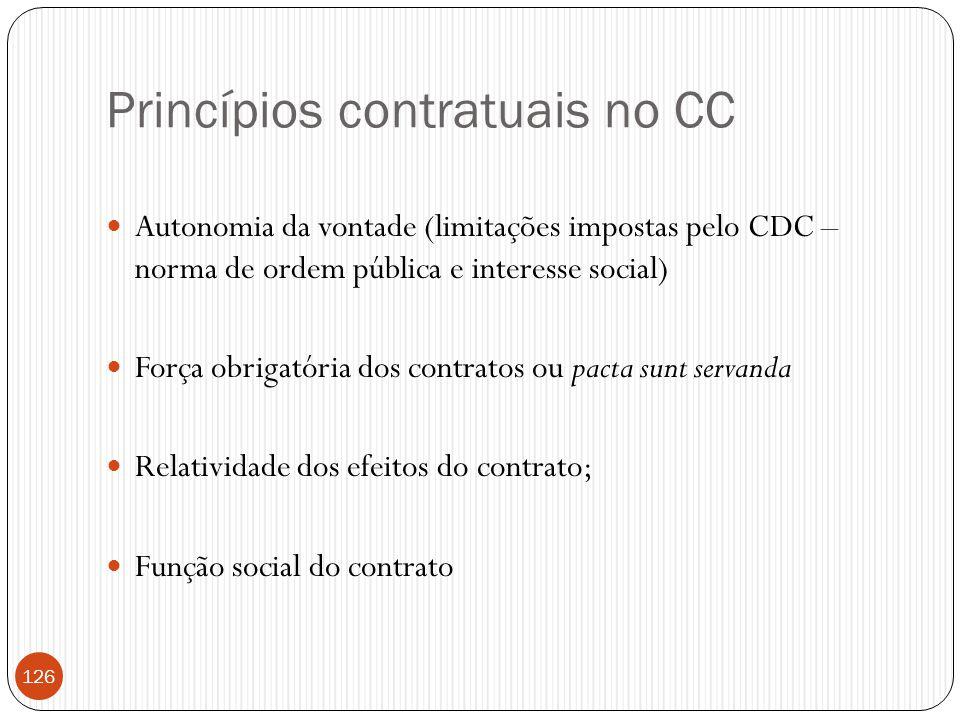 Princípios contratuais no CC