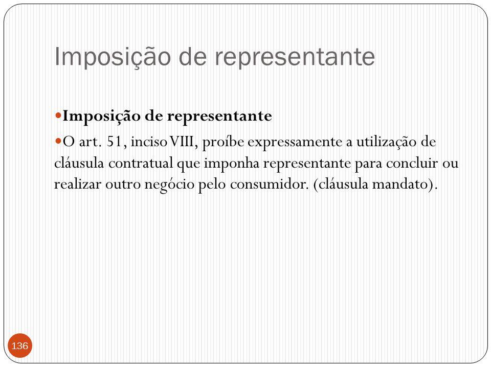 Imposição de representante