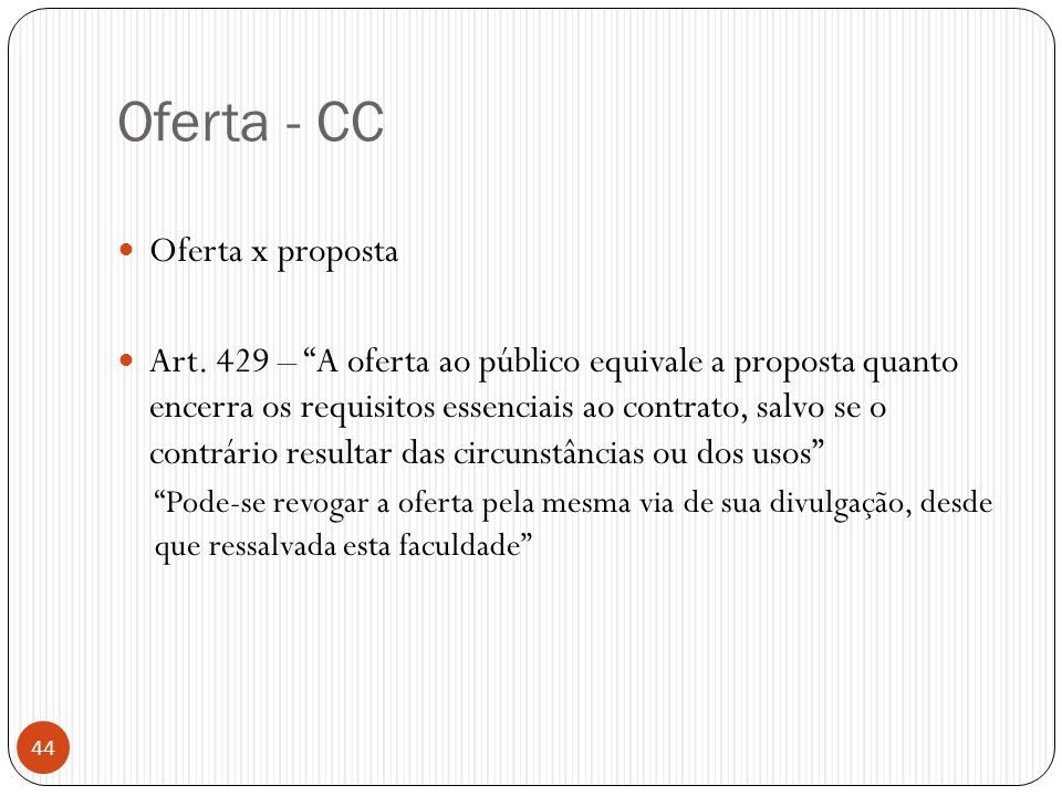 Oferta - CC Oferta x proposta