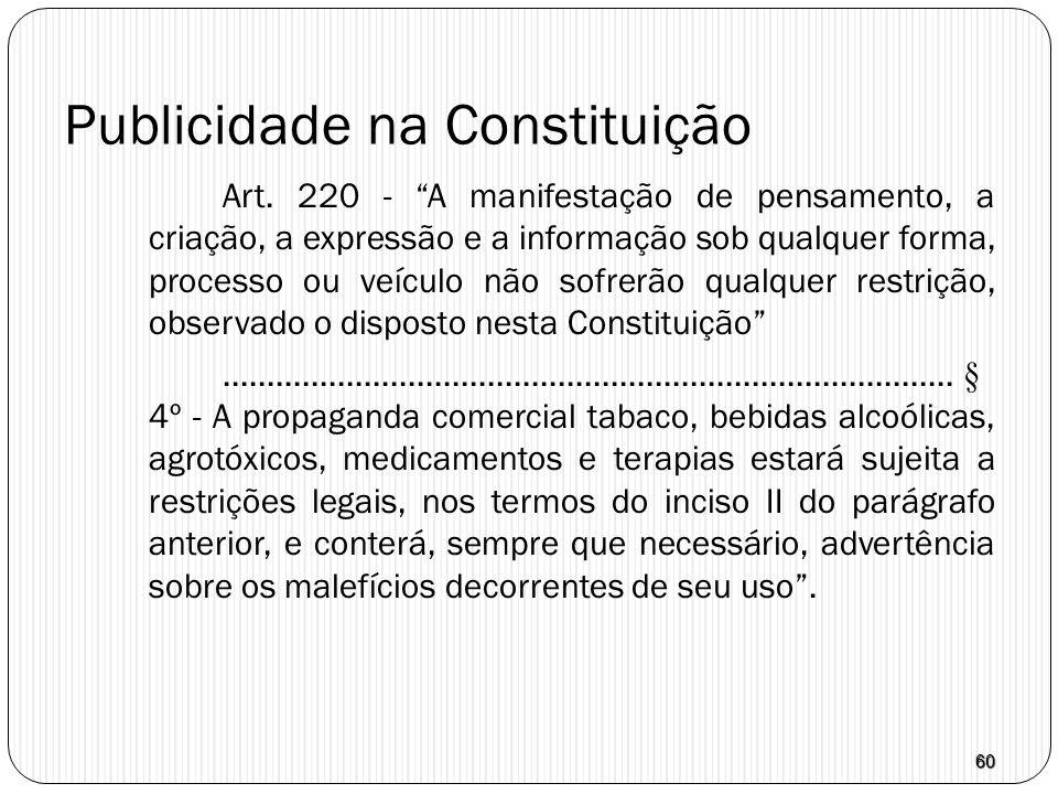 Publicidade na Constituição