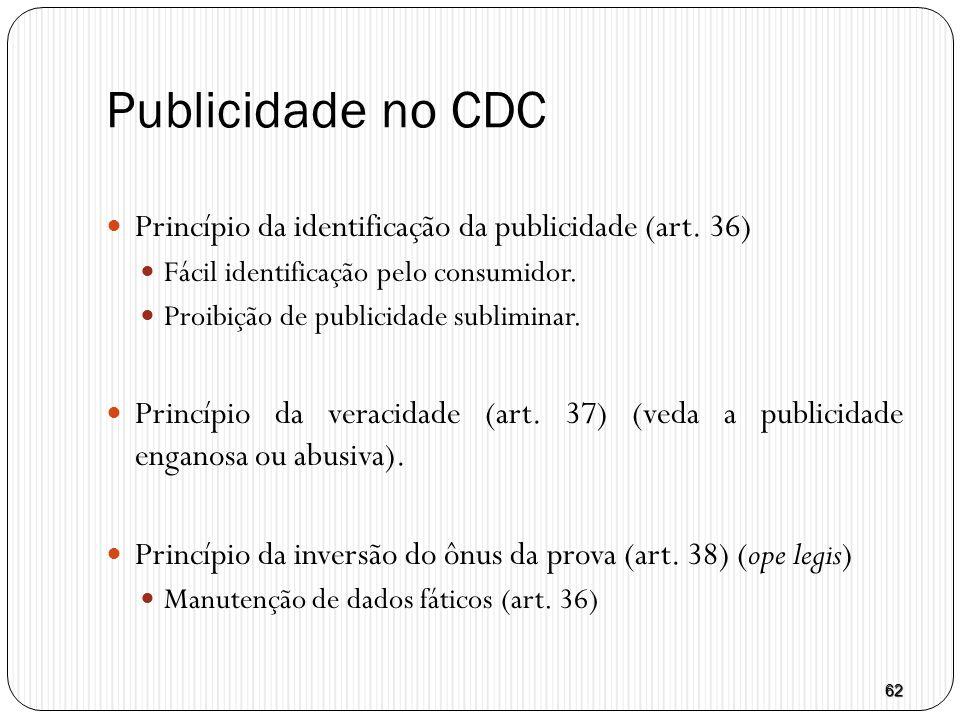Publicidade no CDC Princípio da identificação da publicidade (art. 36)