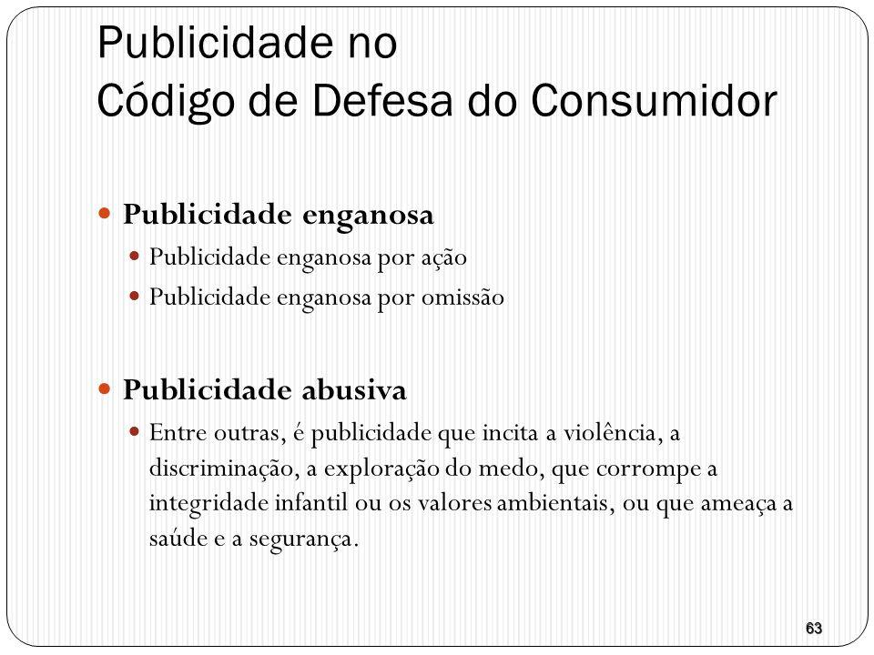 Publicidade no Código de Defesa do Consumidor