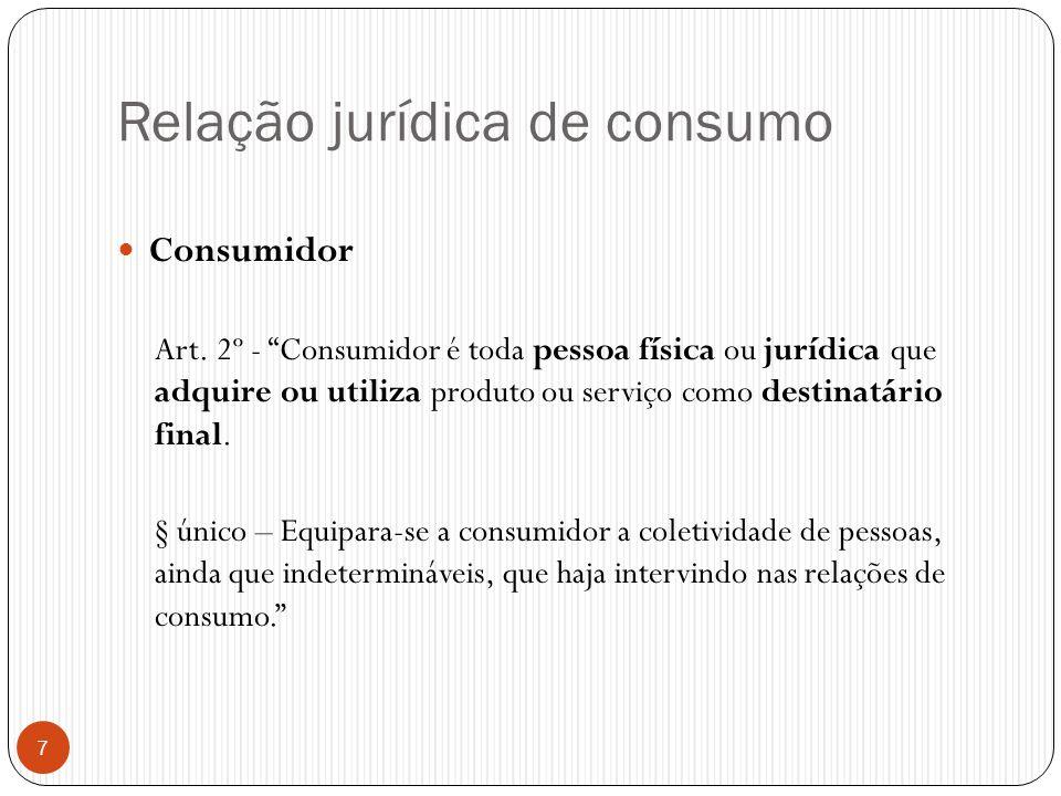 Relação jurídica de consumo